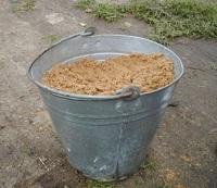 Сколько весит ведро песка